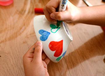 הילדים הקטנטנים יתלהבו. ציור ביד חופשית (צילום: לאה מ. צלמת )