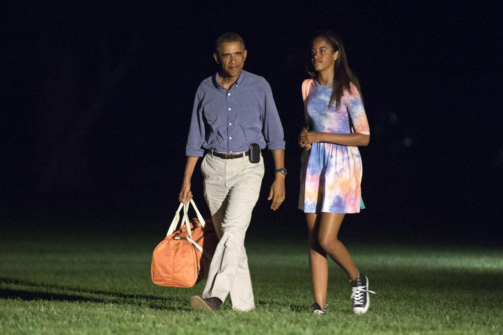 סגנון המתאים למי שבשנה הבאה תחגוג יום הולדת 18. מליה וברק אובמה (צילום: gettyimages)