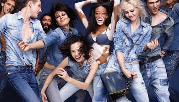 "דנ""א קוּלי ובועט. קמפיין הקיץ של דיזל–ג'ינס משדר מסר צעיר (צילום: ניק נייט)"