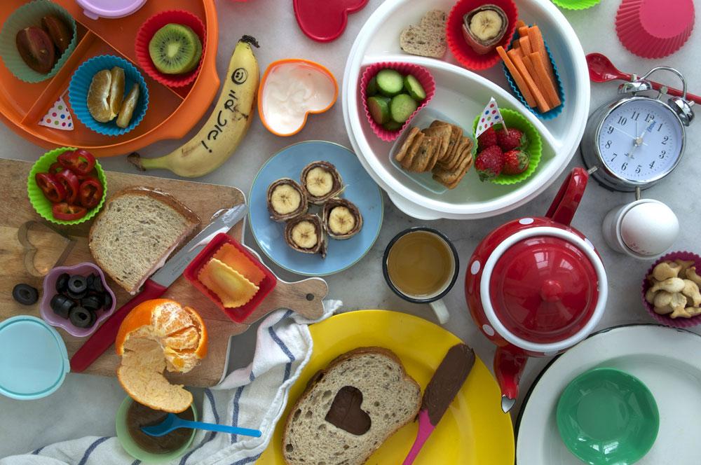 המפתח להצלחה: צבעוניות וצפיפות. ארוחה מגוונת לבית הספר (צילום: אפרת מוסקוביץ)