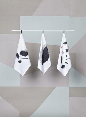 מגבות פשתן מודפסות של סטודיו swift (צילום: תמוז רחמן)