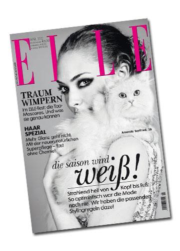 אמנדה סייפריד מדגמנת אהבת חיות על שער גיליון אפריל 2012 של מגזין אל גרמניה