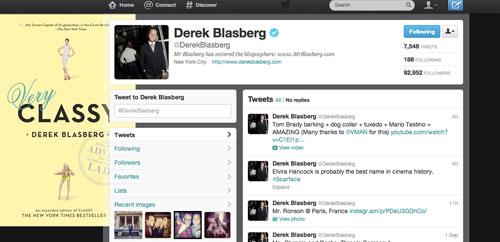 הטוויטר של עורך האופנה דרק בלסברג