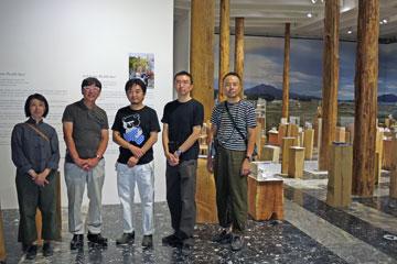 הצוות היפני. זכו בפרס הביתן המצטיין (צילום: Noya Hatakeyama, Japan Foundation)