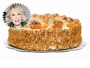 עוגה עם שיק. ג'ואן ריברס ועוגת הקוקוס ומשמש (צילום: shutterstock ן gettyimages)
