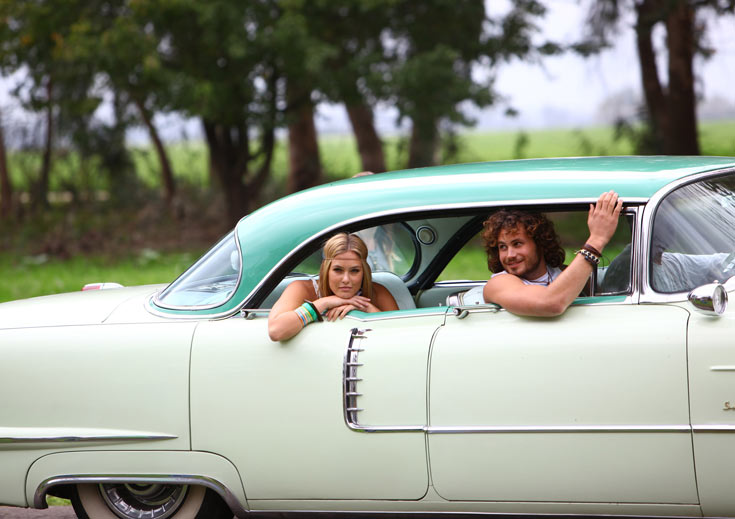 נועם טור ובר רפאלי בקמפיין וודסטוק של פוקס לקיץ 2012 (צילום: גולי כהן)