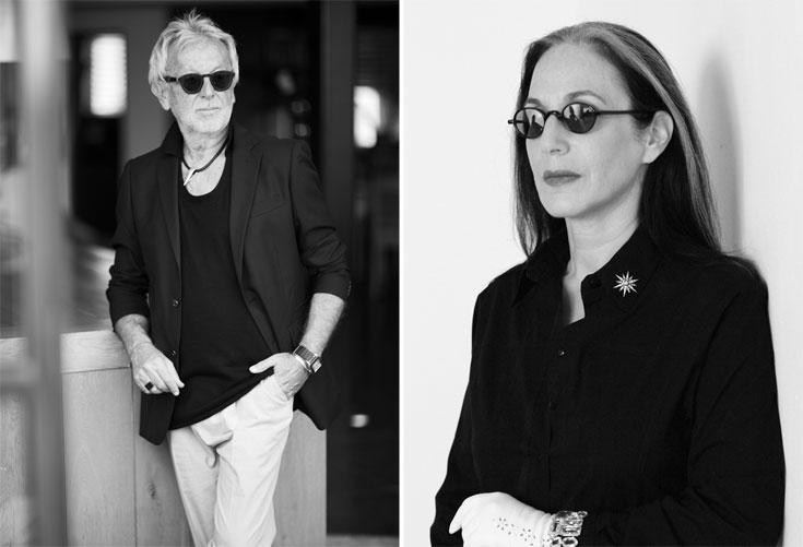 דורין פרנקפורט (מימין) וגדעון אוברזון. ממשיכים לשמור על מעמדם בתעשיית האופנה גם אחרי גיל 60  (צילום: דודי חסון, סם יצחקוב)