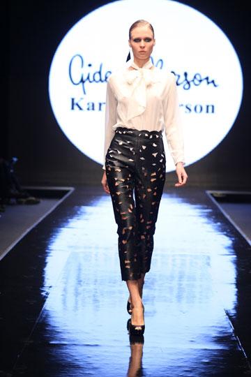 תצוגת האופנה של גדעון וקארן אוברזון בשבוע האופנה תל אביב, 2011 (צילום: אבי ולדמן )