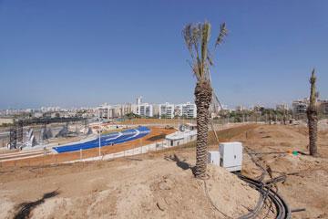 העבודות על פארק אשדוד החדש (צילום: פבל טולינסקי)