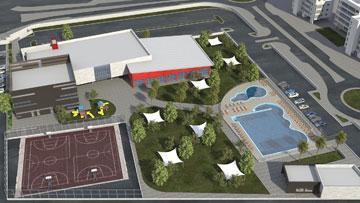 מרכז הספורט החדש בראשון לציון מערב (באדיבות עיריית ראשון לציון)