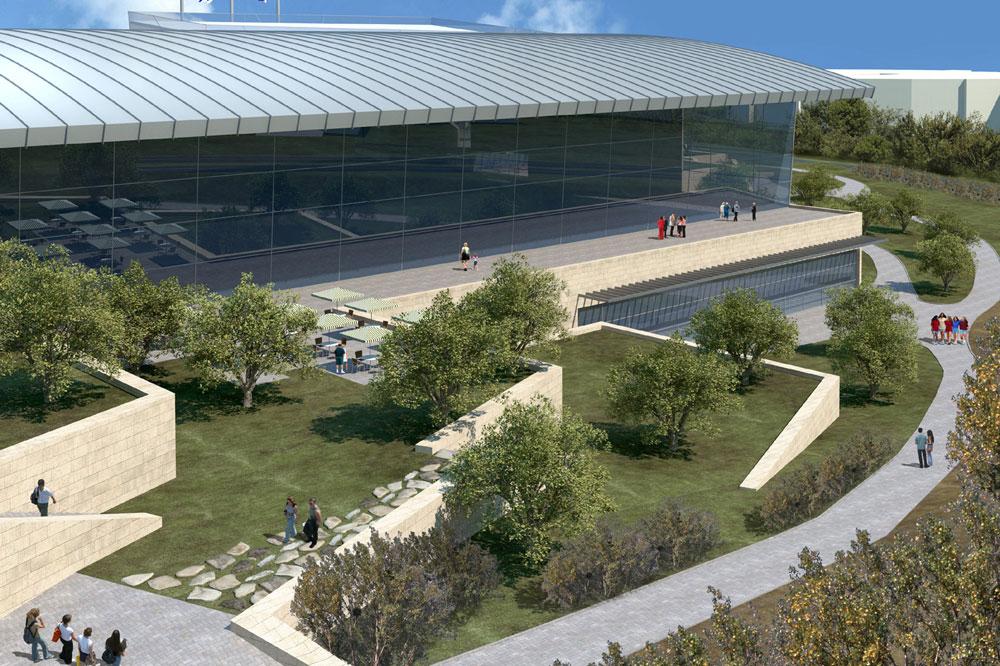 """מרכז השחייה יכלול שלוש בריכות, אחת מהן מתוכן אולימפית, וישתרע על פני 25,000 מ""""ר (באדיבות עיריית ירושלי)"""