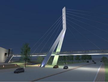 גשר המיתרים שיוקם בכניסה לנהריה. הפעם זה לא קלטרווה, אלא כנפו-כלימור (באדיבות עריית נהריה)