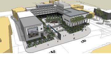 הדמיית שיקום כיכר רסקו בטבריה (באדיבות עיריית טבריה)