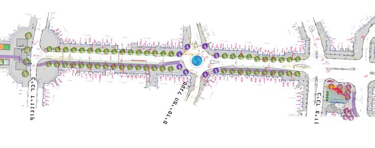 תוכנייות פרויקט החייאת מרכז העיר נתניה (תכנון: ישי וילסון ארכיטקטורה)
