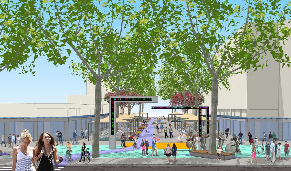 בריכה אקולוגית הופכת לפריט חובה בכל פרויקט של תכנון עירוני. ההצלחה של כיכר רבין מועתקת לשאר אזורי הארץ. השנה גם בנתניה (תכנון: ישי וילסון ארכיטקטורה)