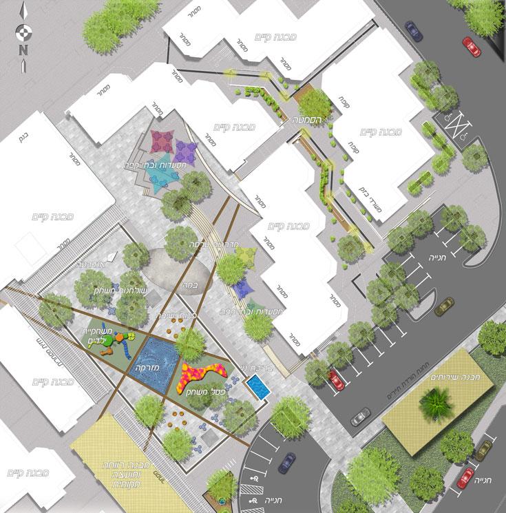 תוכניות השיפוץ של מרכז איתן בקצרין (באדיבות עירית סולסי דרור גרשון אדריכלים אורבניים)