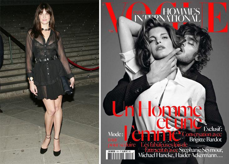 השער הפרובוקטיבי של Vogue Hommes International (מימין) וסטפני סימור. מסר מסוכן?  (צילום: gettyimages)