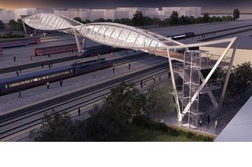 גשר הרכבת המתוכנן (הדמיה: בר אוריין אדריכלים/ סטודיו 84)