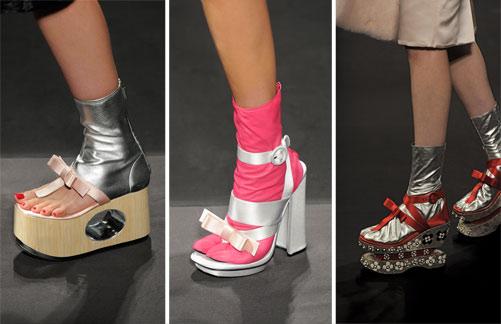 נעלי ה-split toe של פראדה (צילום: gettyimages)