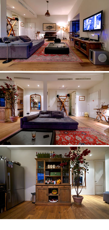 הסלון של יוסף. אוהב להירגע על הספה (צילום: איתי סיקולסקי)