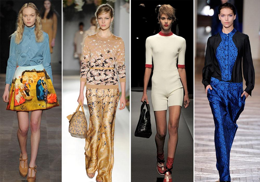מותגי האופנה הכי לוהטים, מימין: סטלה מקרטני, פראדה, מלברי וקארבן (צילום: gettyimages)
