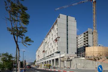 מבנים בגובה 8.5 קומות מעל קומה מסחרית. מבנים אחרים יתנשאו לגובה 15 קומות מעל קומה מסחרית (צילום: טל ניסים)