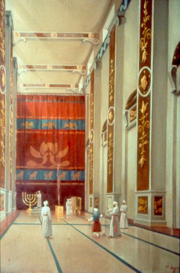 העובי הממוצע של הקירות היה 4.5 מטר (באדיבות מכון המקדש)