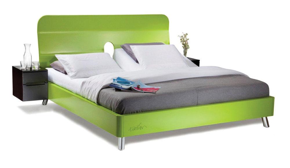 מיטה ירוקה עגולת פינות