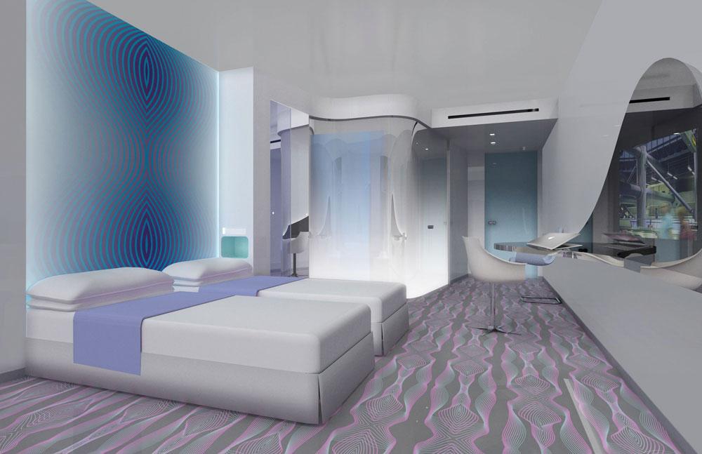 פרקט דקורטיבי באחד ממלונות הבוטיק בעיצובו