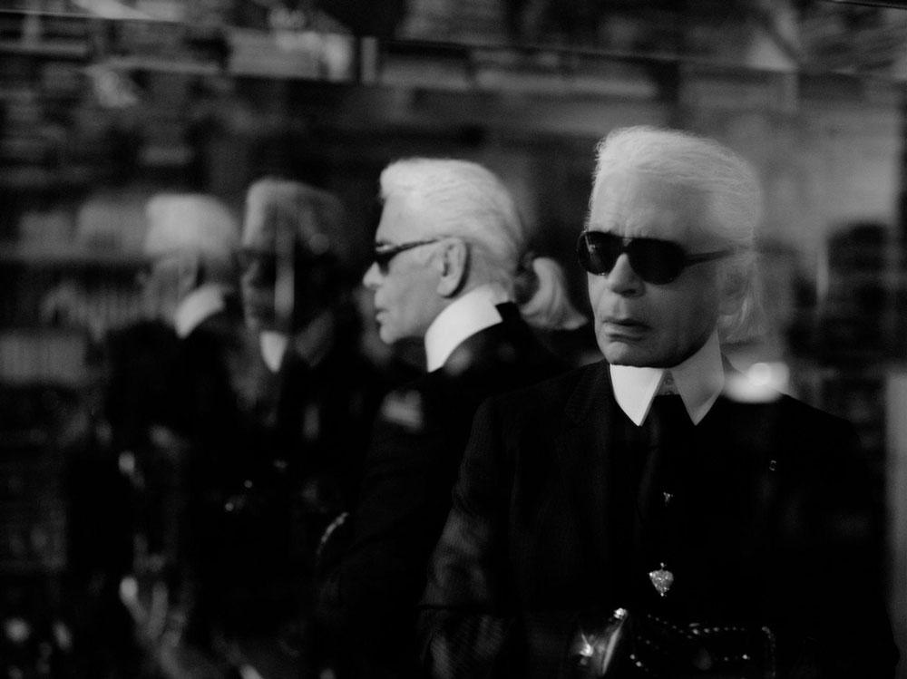 """""""מה שאתה רואה – זה לגרפלד. הרבה אנשים לא רואים אותו כאדם, אלא כאדם-על"""", אומרת מרטינה נויין (צילום: VOX/Karl Lagerfeld)"""