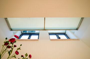 מבט מתוך הנישה בחדר האורחים למעלה (צילום: אילן נחום)