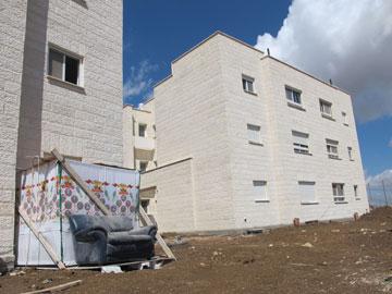 סוכת בכורה בחג. שכונת עלי עין (צילום: מיכאל יעקובסון)