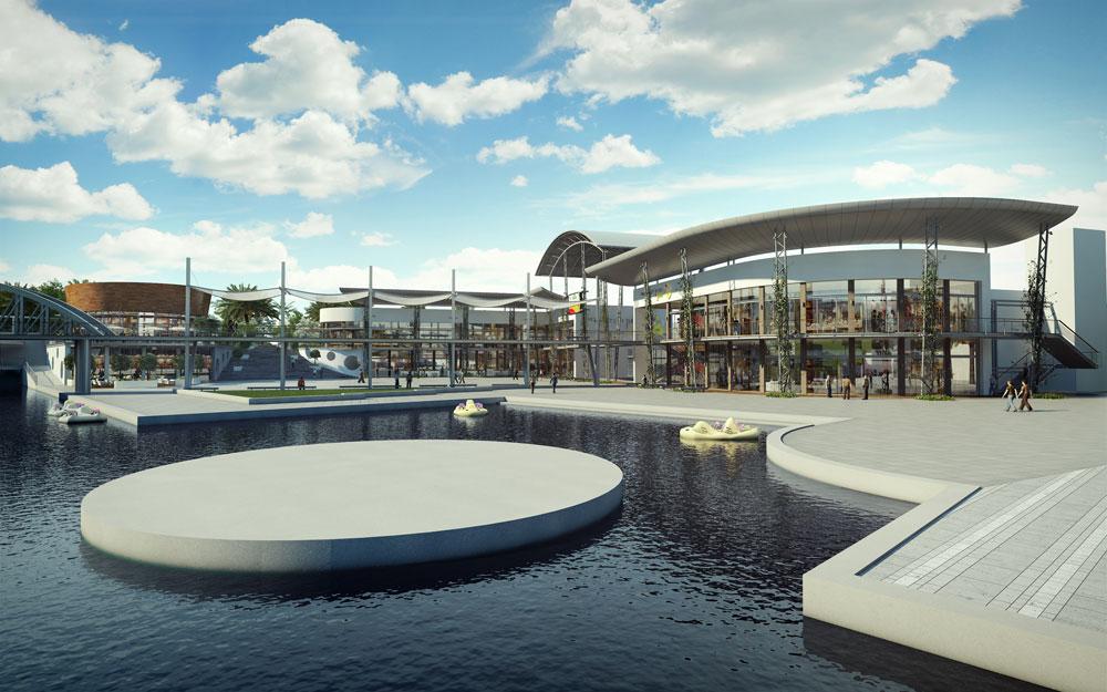 בבנייה: מרכז בילוי ופנאי צמוד לפארק פרס (הדמיה: באדיבות עיריית חולון, רן בלנדר אדריכלים)