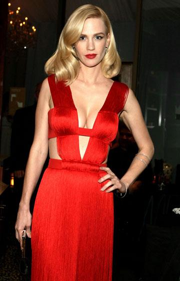 """ריברס על ג'נוארי ג'ונס: """"שׁנאתי את השמלה שלה. היא נראתה בה כמו זונה"""" (צילום: gettyimages)"""