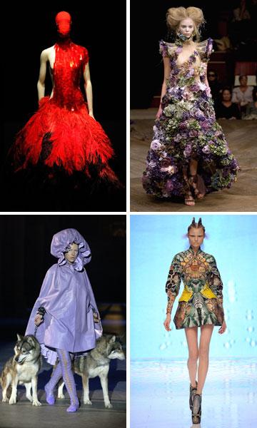 תצוגות של אלכסנדר מקווין. שינה את תעשיית האופנה העולמית (צילום: gettyimages)
