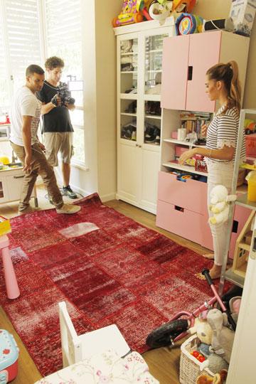 אקו-שיק. שטיח טלאים ממוחזר (צילום: יוני רייף  )