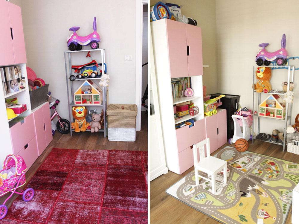 פינת הצעצועים, לפני ואחרי (צילום: יוני רייף  )