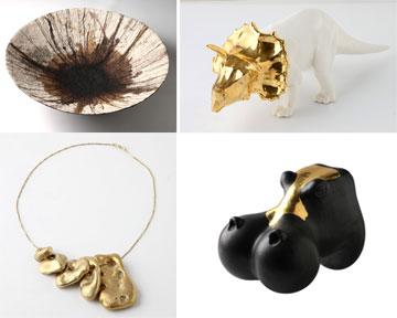 פריטי מעצבים הנמכרים בשיתוף הפעולה בין אוברזון וגלריית טאלנטס (צילום: דני לרנר)
