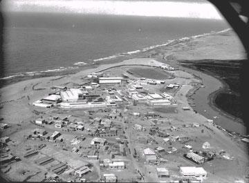 האזור בשנות ה-30. במרכז: אצטדיון המכבייה. משמאל: יריד המזרח (צילום: ספריית הקונגרס האמריקאי)