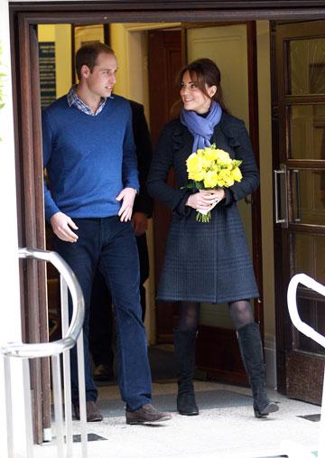 מידלטון והנסיך וויליאם, דצמבר 2012: הבחילות לא פגמו לה בסטייל (צילום: gettyimages)