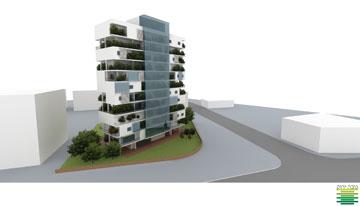 ההצעה שזכתה במקום השני (באדיבות תחרות 'לגור ירוק בישראל' של קק''ל בשיתוף המועצה הישראלית לבניה ירוקה)