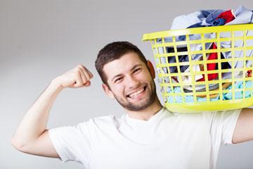 גיבור, אל תעמיס. בגדים שיכובסו בצפיפות רבה לא יתנקו  (צילום: shutterstock)
