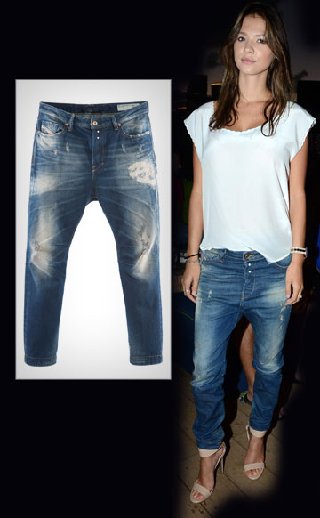 רוסלנה רודינה בג'ינס של דיזל (1,200 שקל) והריון בלתי נראה (צילום: שוקה כהן, קמיל סימון)