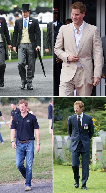 המלתחה המלכותית: מגוון חליפות או חולצת פולו ומכנסי ג'ינס (צילום: gettyimages)