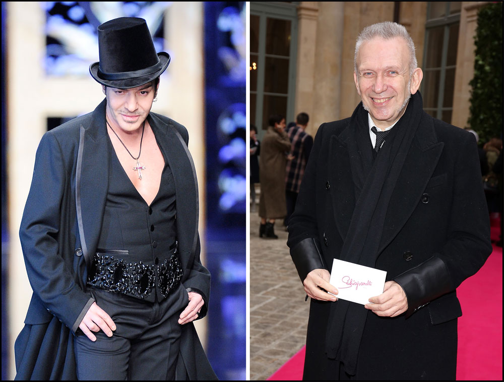 ז'אן פול גוטייה (מימין) תולה את המספריים וג'ון גליאנו מתכנן לשוב לתעשיית האופנה (צילום: gettyimages)