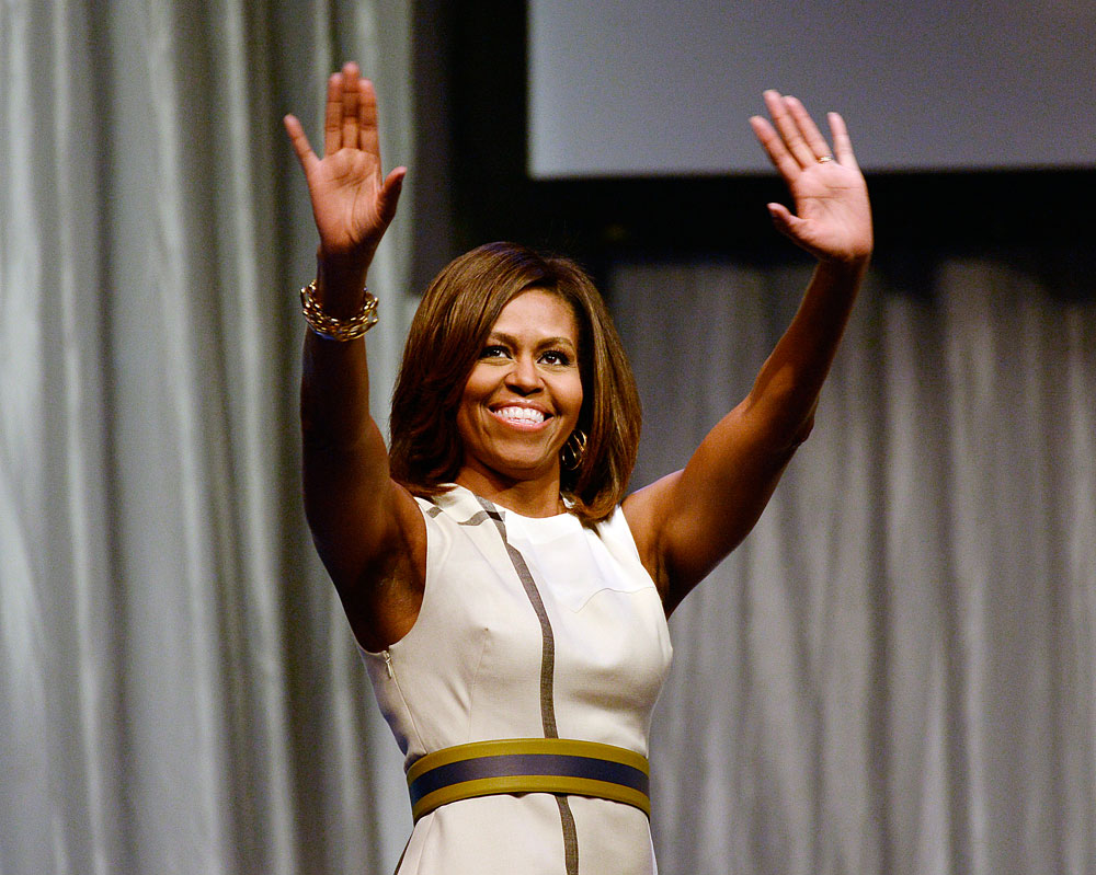 מישל אובמה. תומכת באופן קבוע בתעשיית האופנה האמריקאית (צילום: gettyimages)