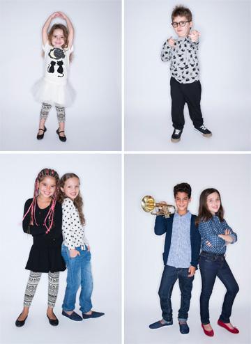 """הילדים של קסטרו: """"קמפיין הסתיו של 'הילדים של קסטרו', נעשה בכיכובם של 15 ילדים מוכשרים במיוחד, ישראלים, מוזיקליים, דור העתיד שלנו ואנו גאים בהם"""" (צילום: עידו לביא)"""