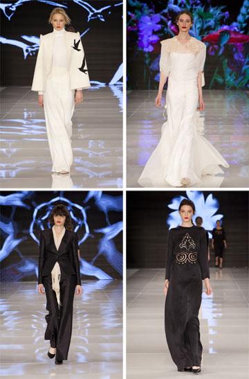 אופנה נינוחה ומינימליסטית התפורה לעילא. הקולקציה של תמרה סלם בשבוע האופנה האחרון בתל אביב (צילום: ענבל מרמרי)