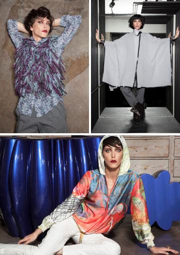 """בגדים בעיצובה של אוברזון. """"אני לא מאלה שהולכות בבית בשמלות ערב ונעלי עקב"""" (צילום: טינו ואקה)"""