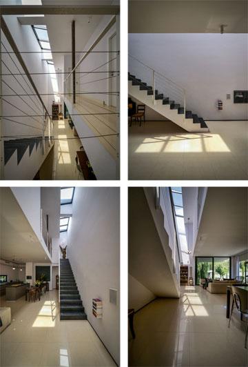 """""""מדרגות המתכת בבית מהחלל המרכזי לחדרי השינה, הן רעיון שבא לי באחד הלילות"""" (צילום: איתי סיקולסקי)"""